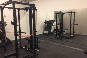 Athletes Village Gym Mirror Install
