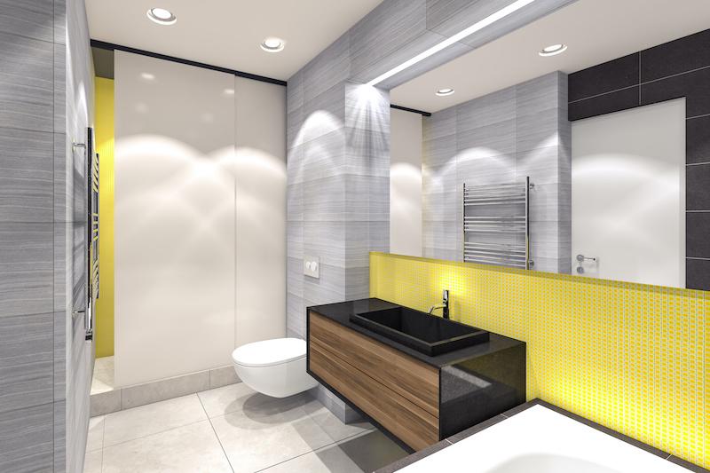 Designer hotel mirror