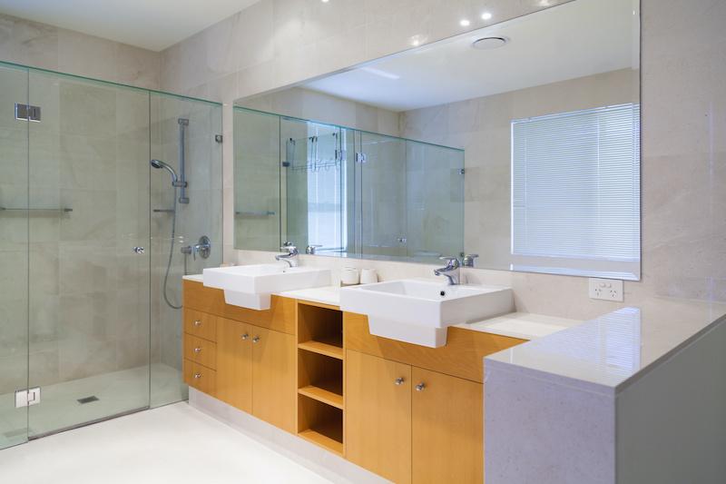 large custom bathroom mirror